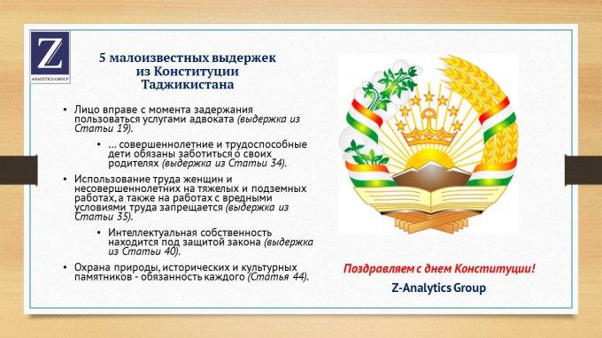 5 малоизвестных выдержек из Конституции Таджикистана